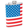 Maxam® 8oz Stainless Steel Flask with American Flag Wrap