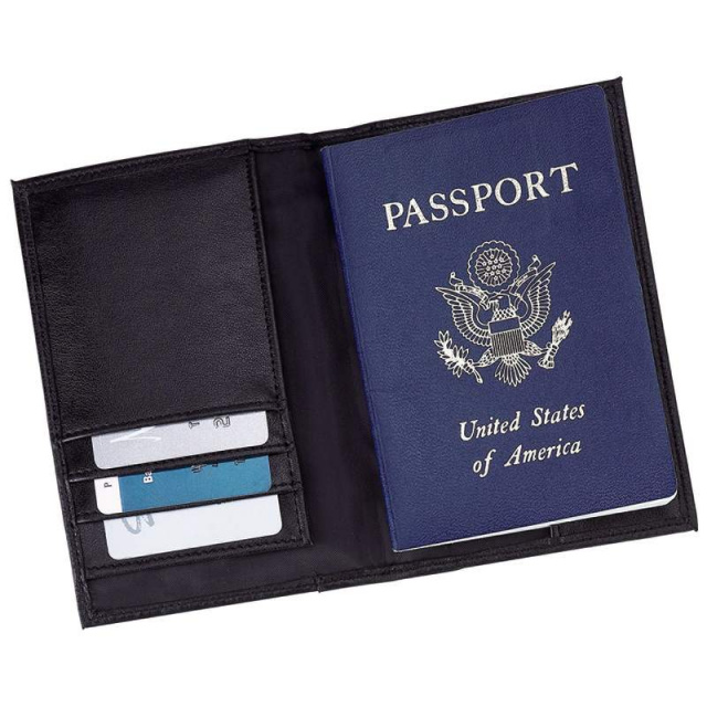 Embassyâ?¢ Solid Genuine Leather Passport Cover