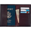 Embassy™ Solid Genuine Leather Brown Passport Cover